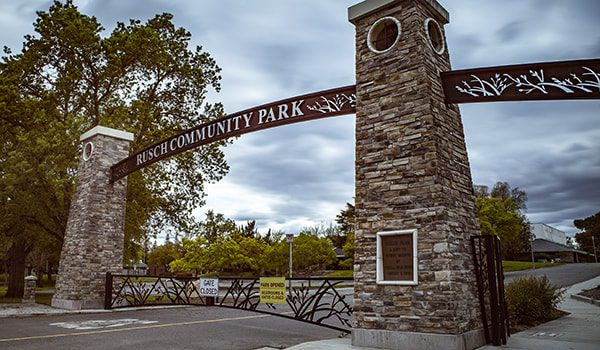 custom decorative archway for a community park